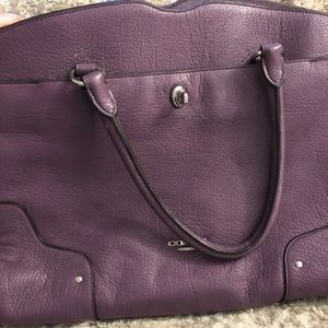 Barely used pebbled leather Coach purse